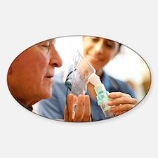 Nebuliser use Sticker (Oval)