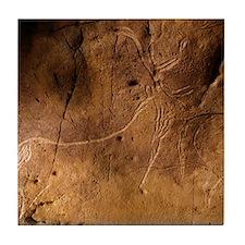 Stone-age cave art, Asturias, Spain Tile Coaster