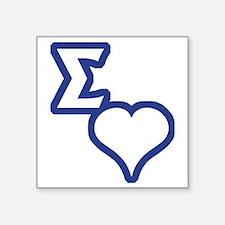 "Sigma Sweet Square Sticker 3"" x 3"""
