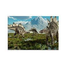 Stegosaurus dinosaurs, artwork Rectangle Magnet