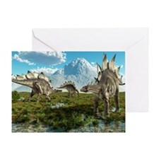 Stegosaurus dinosaurs, artwork Greeting Card