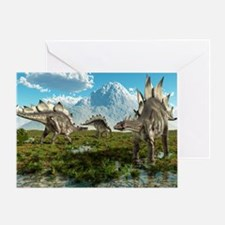 Stegosaurus dinosaurs, artwork Greeting Card