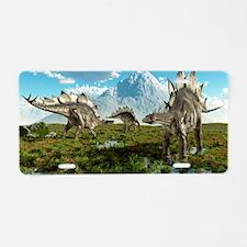 Stegosaurus dinosaurs, artw Aluminum License Plate