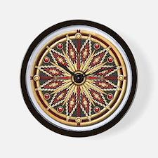 Native American Rosette - 02 Wall Clock