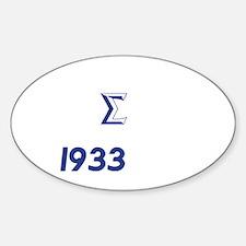 White Sigma Dove 1933 Decal