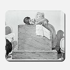 Steam bath, satirical artwork Mousepad