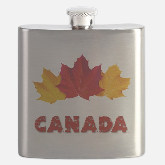 Maple Leaf Celebration Flask