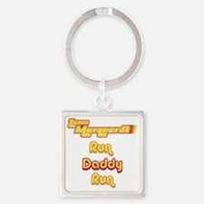 team run Square Keychain