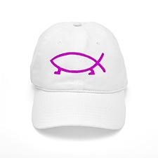 Pink evolvefish Baseball Cap