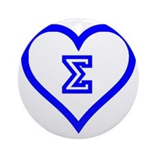 Sigma Sweetheart Round Ornament