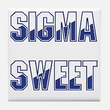 Two-tone Sigma Sweet Tile Coaster