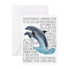 dictdolphin Greeting Card
