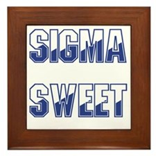 Two-tone Sigma Sweet Framed Tile