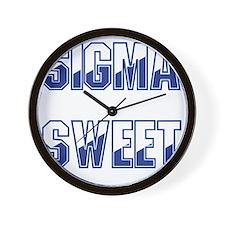 Two-tone Sigma Sweet Wall Clock