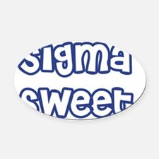 Sigma Sweet Outline Hearts Oval Car Magnet