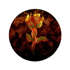 "Fire Rose 3.5"" Button"