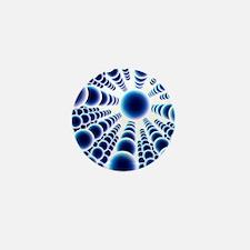 Nanoparticle lattice, artwork Mini Button