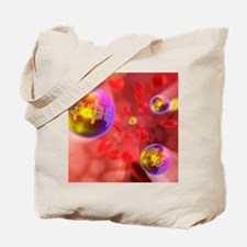 Nano particles in the blood, artwork Tote Bag