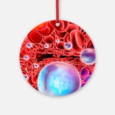 Nanomedicine, conceptual artwork Round Ornament