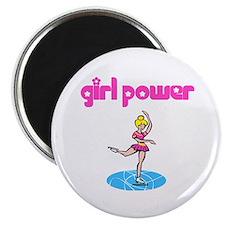 Girl Power Figure Skating Magnet