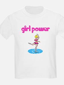 Girl Power Figure Skating Kids T-Shirt