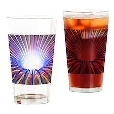 Multicoloured light ray funnel, art Drinking Glass