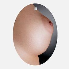 Woman's breast Oval Ornament