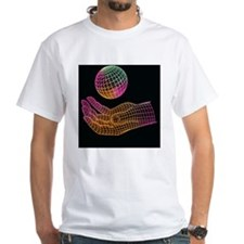 Wire-drawn hand and sphere Shirt