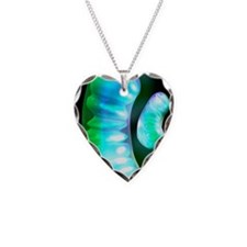 Mitochondria, artwork Necklace Heart Charm
