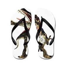 Spinosaurus dinosaur, artwork Flip Flops