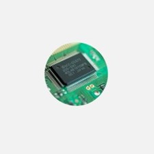 Microprocessor chip Mini Button