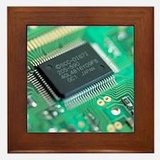 Microprocessor chip Framed Tile
