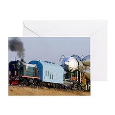 Soyuz TMA-11 rocket on transporter Greeting Card