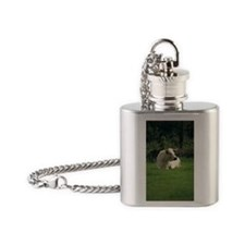 White park cow Flask Necklace