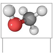 Methanol alcohol molecule Yard Sign