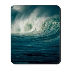 Wind-blown wave breaking in Hawaii Mousepad