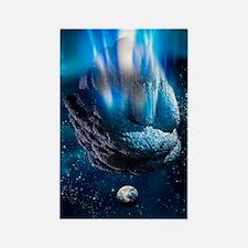 Meteor heading for Earth, artwork Rectangle Magnet