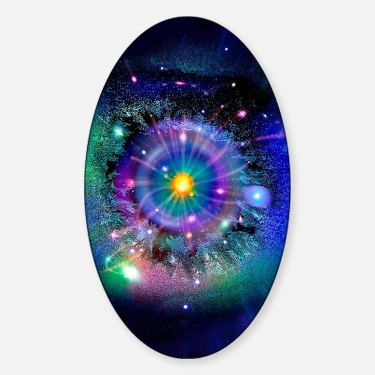 Space-time gateway Sticker (Oval)