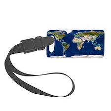 Whole Earth map Luggage Tag