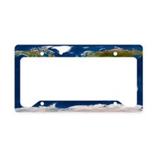 Whole Earth map License Plate Holder
