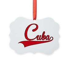 Cuba Retro Vintage Text Ornament