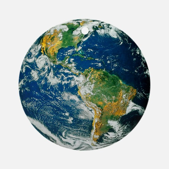 Whole Earth (Blue Marble 2000) Round Ornament