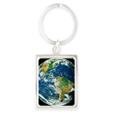 Whole Earth (Blue Marble 2000) Portrait Keychain