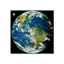 "Whole Earth (Blue Marble 20 Square Sticker 3"" x 3"""