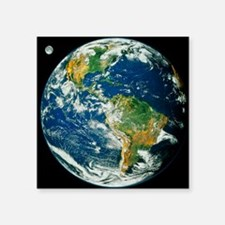 """Whole Earth (Blue Marble 20 Square Sticker 3"""" x 3"""""""