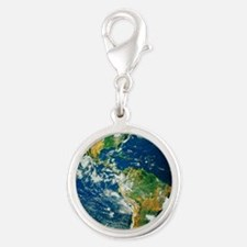 Whole Earth (Blue Marble 2000) Silver Round Charm
