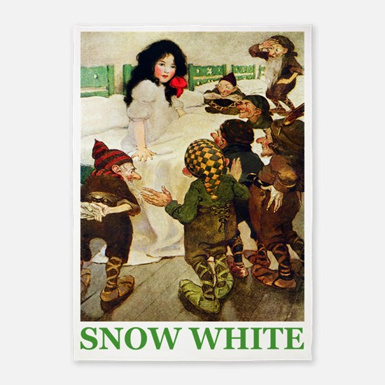 Snow White 2 GREEN 5'x7'Area Rug