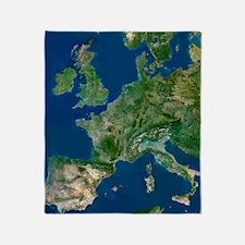 Western Europe Throw Blanket