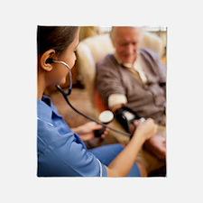 Measuring blood pressure Throw Blanket