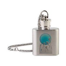 Medical nanorobots, artwork Flask Necklace